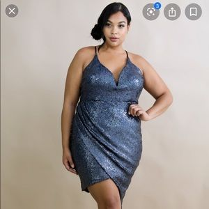 Sequin Edgy Body-Con Dress
